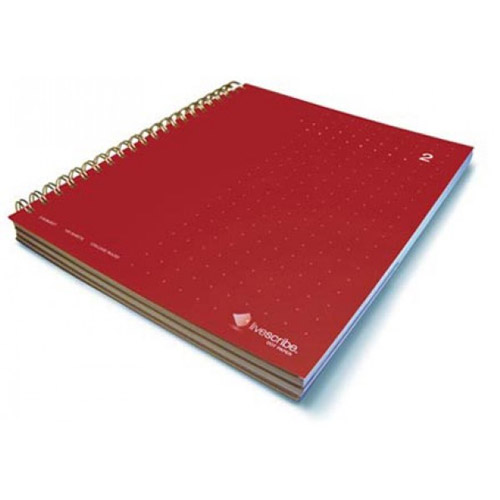 livescribe 3-subject notebook #2 red