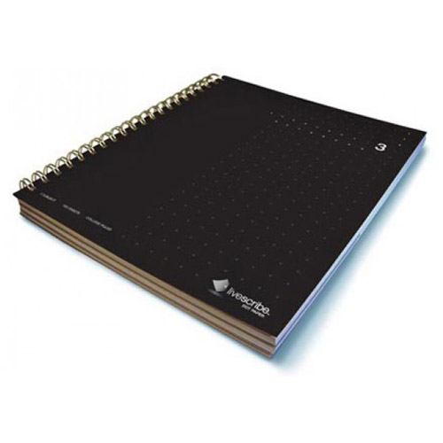 livescribe 3-subject notebook #3 black
