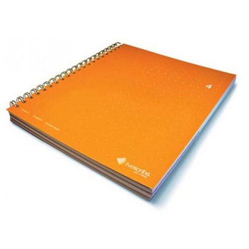 livescribe 3-subject notebook 4 orange
