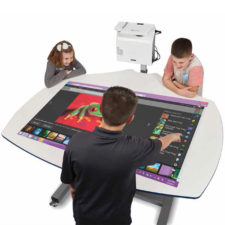 boxlight deskboard adjustable projection surface