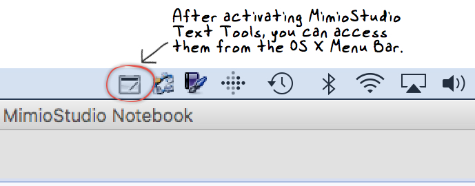 access mimiostudio text tools