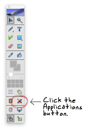 click applications icon