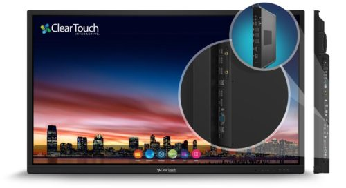 clear touch interactive flat panel 6000U series connections