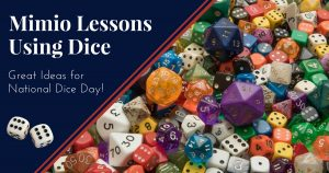 Mimio Lessons Using Dice